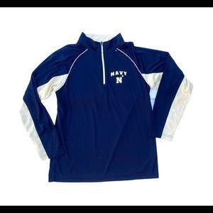 Navy Ncaa colosseum college quarter zip  sweater